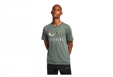 Nike Short Sleeves Jersey Dri-FIT Training Vert Kaki Camo Men