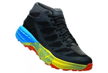 Hoka Trail Shoes Speedgoat Mid Waterproof Black Blue Yellow