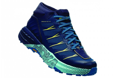 Hoka Trail Shoes Speedgoat Mid Waterproof Purple Blue Women