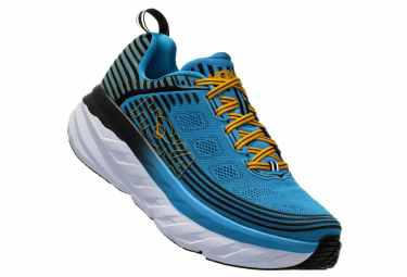 Hoka Running Shoes Bondi 6 Blue Yellow