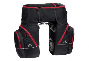 Vaude Karakorum Triple Trunk Bag Black Red