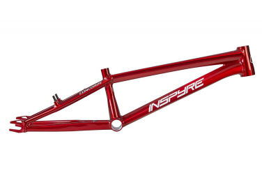 Cadre BMX Race Inspyre Concorde Brushed Raw Trans Red / Rouge