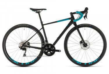 Cube Axial WS Race Disc Women Road Bike Shimano 105 11S Black Teal Blue 2019