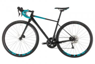 Bicicleta de Carretera Mujer Cube Axial WS Race Disco Shimano 105 11V Negro / Azul Turquesa 2019