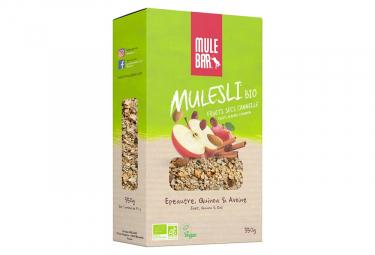 Mulebar Mulesli Bio y Vegan Muesli Canela con Manzana 350 g