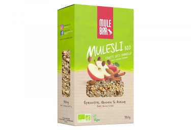 Muesli Mulebar Mulesli Bio & Vegan Pomme Canelle 350 g