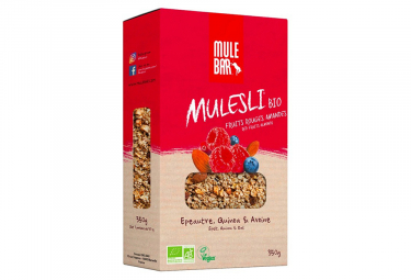 Muesli Mulebar Mulesli Bio & Vegan Fruits Rouges 350 g