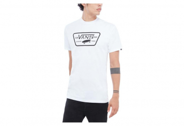 T shirt vans full patch blanc noir l