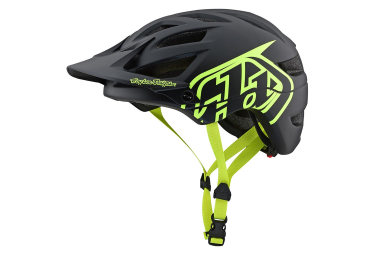 Casco MTB Troy Lee Designs A1 Drone Nero Neon Giallo Opaco