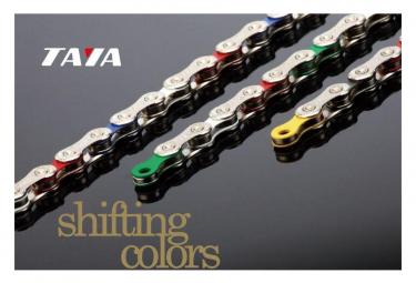 Image of Chaine taya deca 101 10 vitesses couleurs rasta