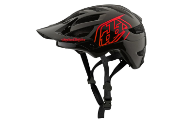 Casco MTB Troy Lee Designs A1 Drone Youth negro rojo brillante