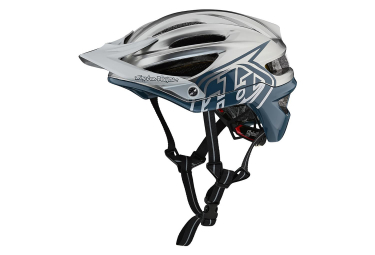Casque vtt troy lee designs a2 decoy mips argent bleu mat xl xxl 60 63 cm