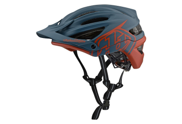 Casque vtt troy lee designs a2 decoy mips bleu marron mat xs s 54 57 cm