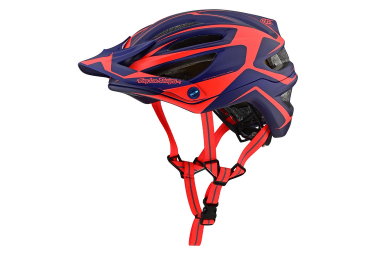 Troy Lee Designs A2 Dropout Mips MTB-Helm Navy Neonorange Matt