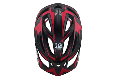 Troy Lee Designs A2 Dropout Sram Mips MTB Helmet Black Red Matte