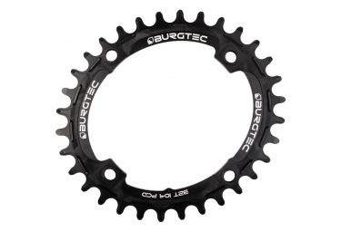Burgtec Chainring Oval Thick Thin BCD 104 Black