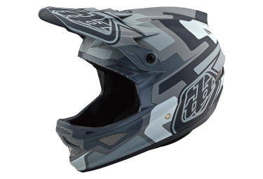 Troy Lee Designs D3 Fiberlite Speedcore Full Face Helmet Grey Matte