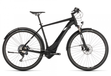 Cube Cross Hybrid Race 500 Allroad Hybrid Touring Bike Shimano SLX / XT 11S Black White 2019