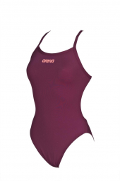 Arena Swimsuit Women Solid Light Tech High Rouge Rose