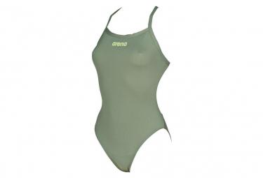 Maillot de Bain Femme Arena Solid Light Tech High Green Khaki