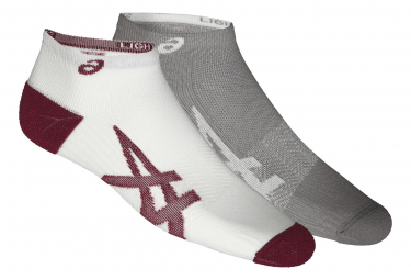 Asics Lightweight Socks (2 pairs) Grey Red