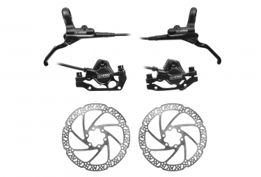 Disc Brake Pair Tektro Auriga M290 (disc 180/160mm) Black