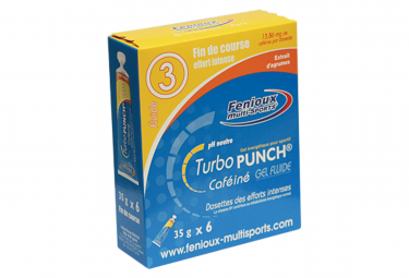 6 Energy Gels Fenioux Gel Turbo Punch 3 Fluide Citrus Fruits (6 Gels)