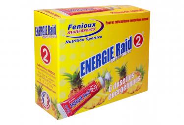 Image of Gels energetiques fenioux energie raid 2 ananas 6x27g