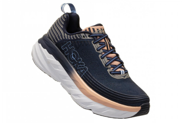Hoka Running Shoes Bondi 6 Blue Pink Women
