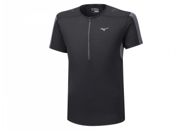 Mizuno Short Sleeves Jersey 1/2 zip Black