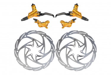 Formula Disc Brake Pair Cura 4 (disc 203mm) Gold 2019