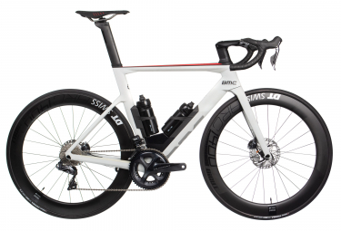 Velo de route bmc timemachine road 01 three shimano ultegra di2 11v 2019 blanc 56 cm 177 186 cm