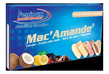 FENIOUX MULTI-DEPORTES Mac'Amande Caja de 6 bares (4 sabores)