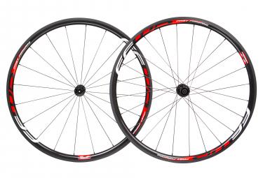 Paire de roues fast forward f3r fcc carbon dt350 9x100 9x130mm corps shimano sram noir rouge