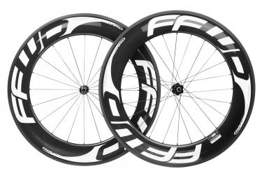 Paire de roues fast forward f9r fcc carbon dt240s sp 9x100 9x130 mm corps shimano sram noir blanc