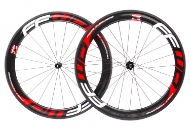 Fast Forward Carbon F6R Wheelset DT350 SP Body Shimano/Sram Black/Red