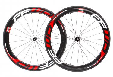 Paire de roues fast forward f6r fcc carbon dt350 sp 9x100 9x130mm corps shimano sram noir rouge