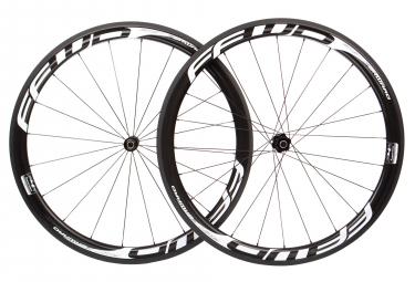 Paire de roues fast forward f4r fcc carbon tubeless dt240s sp 9x100 9x130mm corps shimano sram noir blanc