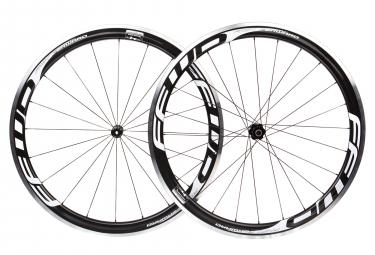 Paire de roues fast forward f4r carbon dt350 sp 9x100 9x130mm corps shimano sram noir blanc