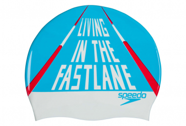 Speedo Slogan Print CAP Blue White