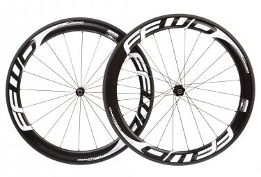 Paire de roues fast forward f6r fcc carbon dt240 sp 9x100 9x130mm corps shimano sram black white