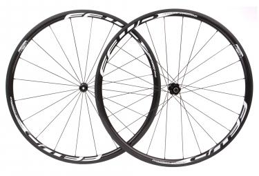 Paire de roues fast forward f3r fcc carbon dt350 sp 9x100 9x130mm corps shimano sram noir blanc