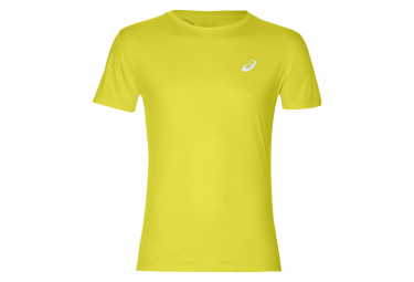 Asics Short Sleeves Shirt Silver Yellow