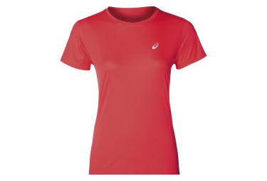 Camiseta de manga corta para mujer Asics - Rosa plateada