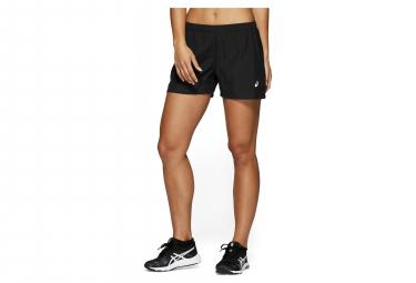 Pantalón corto mujer Asics plateado negro plata