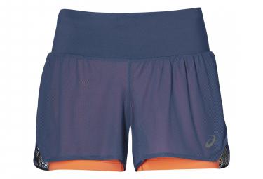 Short 2-en-1 Femme Asics Cool 3.5in Bleu
