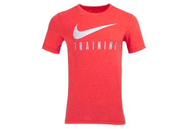 Maillot manches courtes nike dri fit training rouge homme l