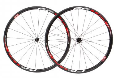 Paire de roues fast forward f3r fcc carbon dt350 sp 9x100 9x130mm corps shimano sram noir rouge