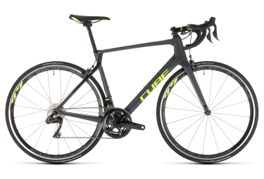 Cube Agree C:62 SL Road Bike Shimano Ultegra Di2 11S 2019 Grey Neon Yellow