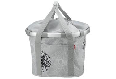 Sacoche de guidon klickfix bikebasket gris